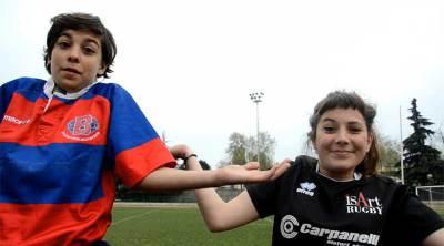 Happy delle ragazze juniores Rugby Bologna 1928