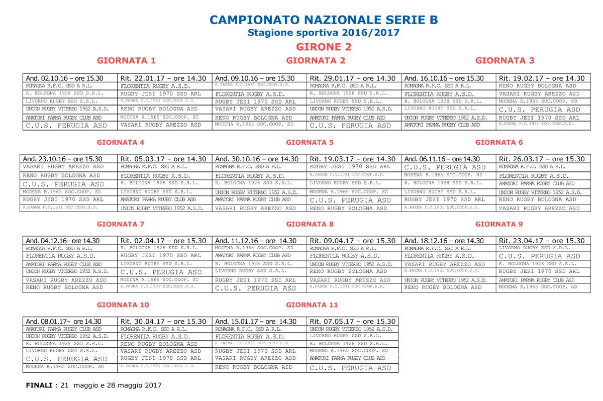 Calendario Serie B Femminile.Rugby Bologna 1928 Il Calendario Serie B Girone B 2016