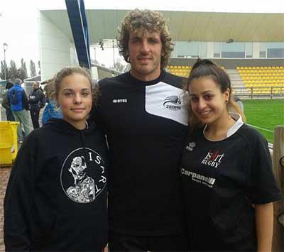 Mirco Bergamasco con atlete Isart